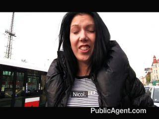 Publicagent - молодые черные волосы ебать на машине