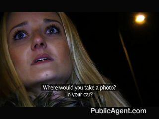 Publicagent - блондинка трахает меня в общественном