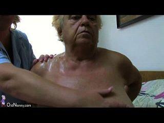 Oldnanny Fat большая бабушка имеет секс с молодым парнем