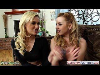 красота блондинки Lexi Belle и Mia Malkova разделяют большой член