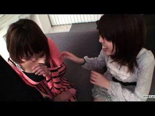 субтитры без цензуры Pov Japanese Cfnm втроем минет в полном Hd