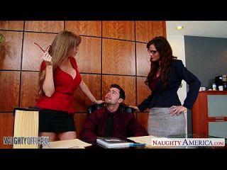 мамаша офисные красавицы Darla Crane и Syren De Mer Share Dick