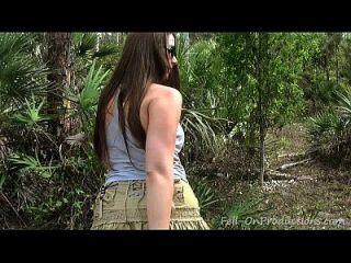 мамаша получает лицо в лесу. Madisin Lee в 21-й день рождения мамы
