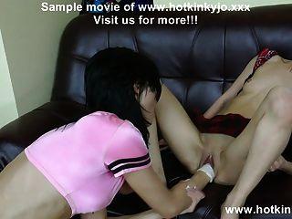Hotkinkyjo & Азиатская девушка локоть глубокий анальный фистинг и опора