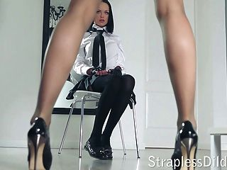 длинный ноги учитель получает Feeldoe стучать