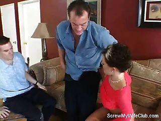 свингер жена винты странником, муженек любит!