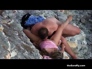 Thesandfly блестящий пляж лизать, сосать и ебать-фест
