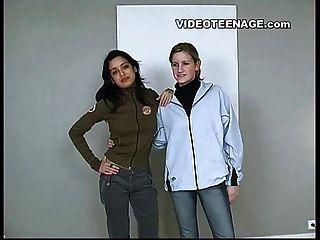 лесбиянки молодые первый кастинг видео