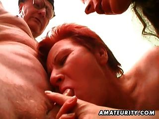 любительское молодых и старых хардкор секс втроем с Сперма