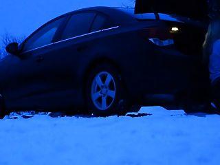 снежные дороги не проблема, просто парк сосать и трахать