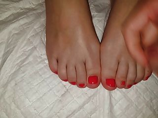 сперма на ногах моей ноги 3