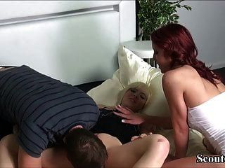 Немецкий мальчик может трахнуть свою сводную сестру и друга в 3