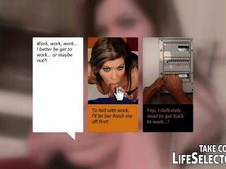 повезло электрик получает лечение от сексуальных медсестер