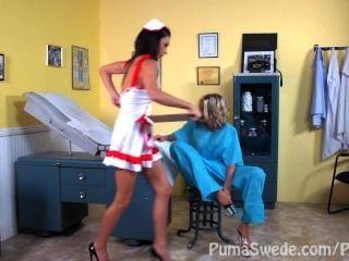 дд врач и медсестра? !! пума брюквы и Джессика Джеймс с Николь Энистон !!