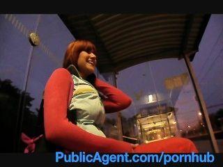 Publicagent Lucy получает мой большой член в ее позади железнодорожной станции