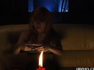 Juri Морикава мастурбирует и удары член без цензуры