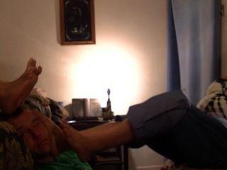 мексиканскую пожилые поклонение нога