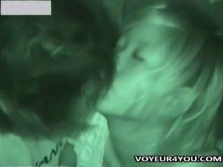 поздно ночью общественный секс вуайерист