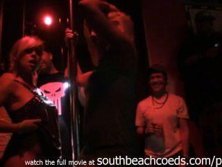 Реальные девушки на вскрышные полюс конкурса майами South Beach домашнее видео